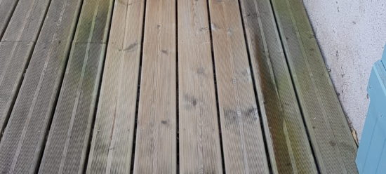 terrasse pendant nettoyage